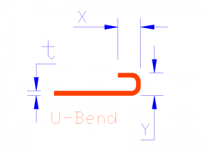 U Bend. Blue Dims Solid-Model
