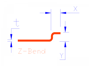 Z Bend Blue Dims Solid-Model