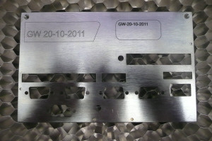 300 x 200 Laser etching on stainless steel----low cost, fast durable
